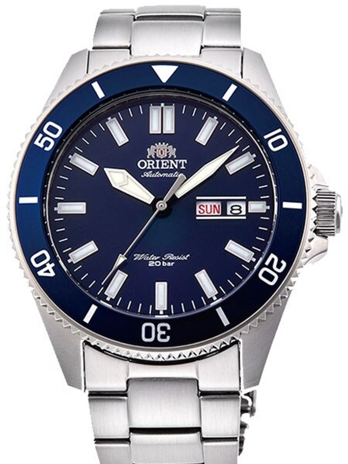 Orient Kanno Blue Dial Automatic Dive Watch with Stainless Steel Bracelet #RA-AA0009L19A