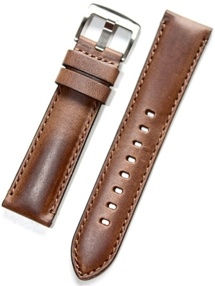 Horween Rustic Calfskin Leather with Stainless Steel Buckle #INS-HOR-ESX81
