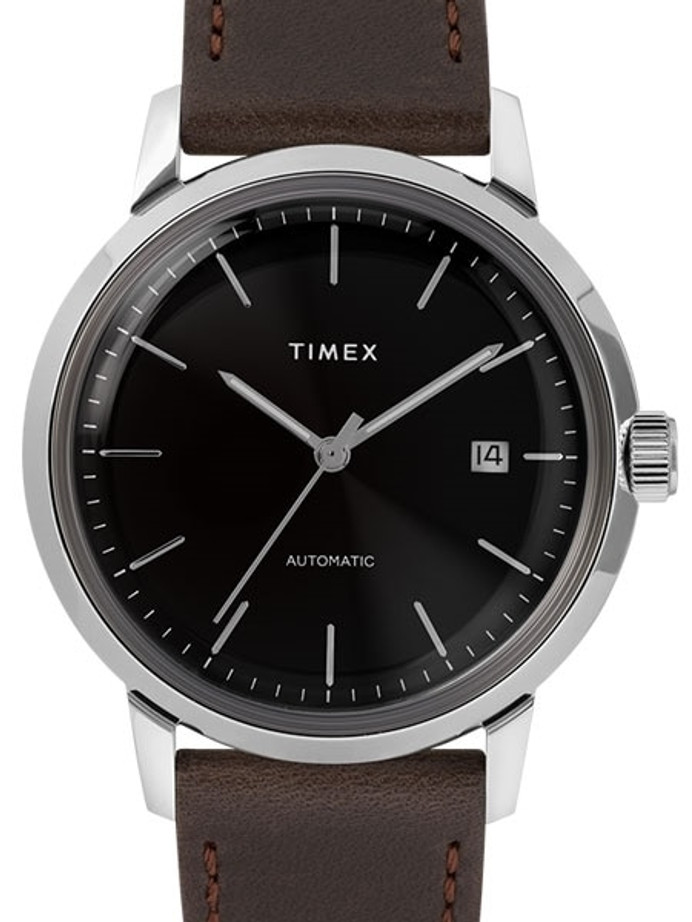 Timex 40mm Marlin 21-Jewel Automatic Watch with Black Dial #TW2T23000ZV