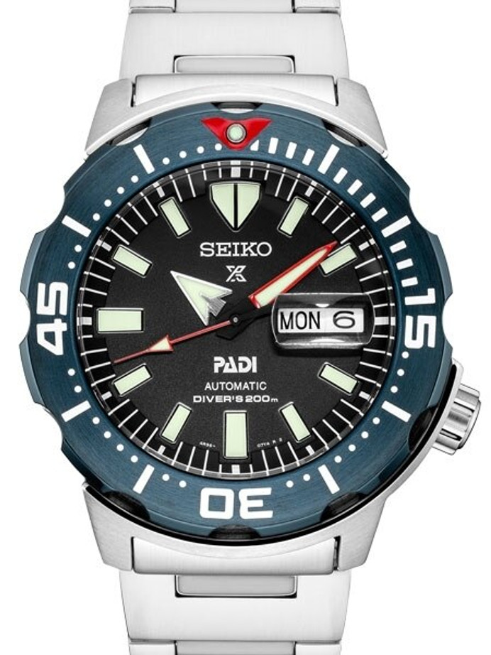 Seiko PADI Edition Monster Automatic with new Case and Bezel Design #SRPE27