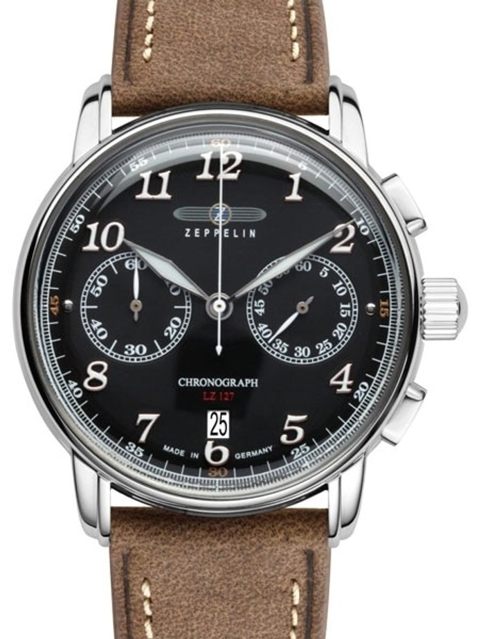 Graf Zeppelin LZ 127 Quartz Chronograph Watch with Black Dial #8678-2