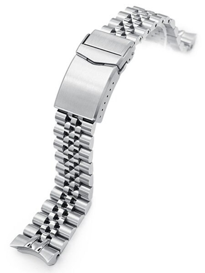 """Strapcode 20mm Super-J """"Louis"""" watch band for SEIKO SKX013 Curved End #SS201820B087"""