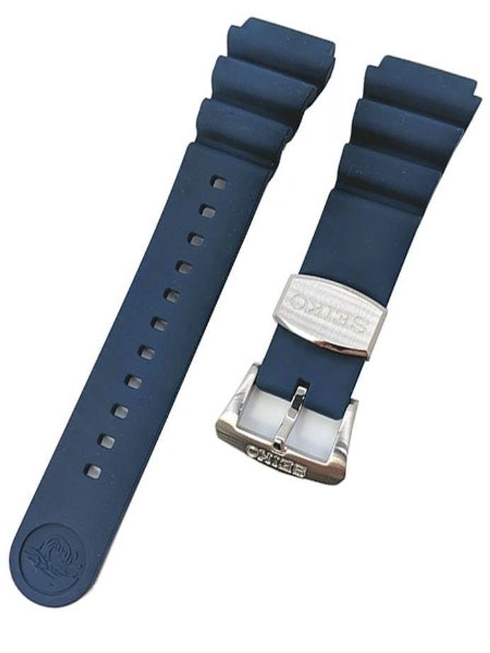 Seiko 22mm Blue Rubber Dive Strap For Samurai and SRPA83 #R02Y012J9