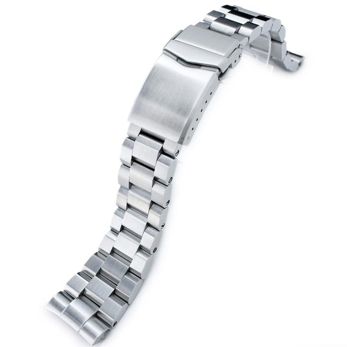 """Strapcode 22mm Hexad-O """"Boyer"""" 316L Stainless Steel Watch Band for Seiko New Turtles #SS221803B056"""