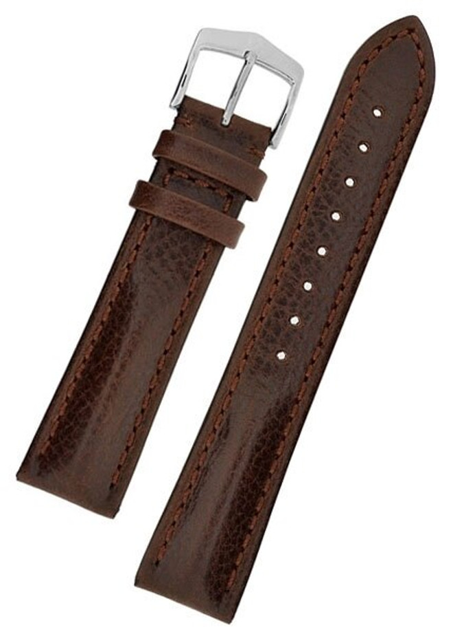 Hirsch Lucca Brown Tuscan Leather Watch Strap #049020-10