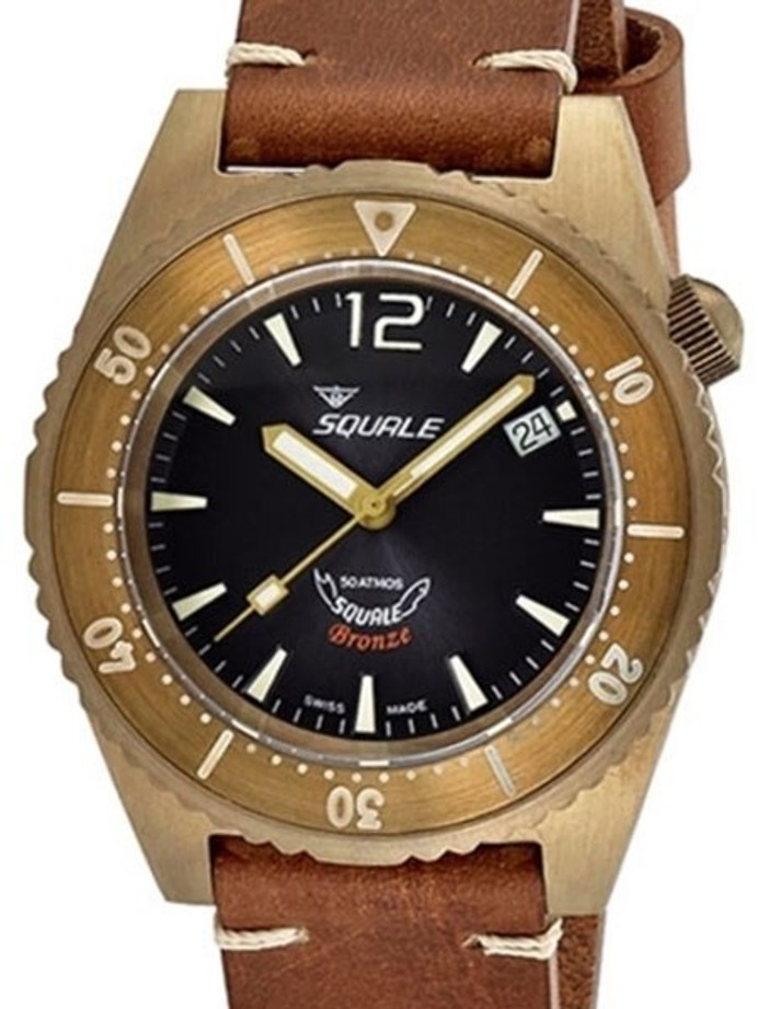 Scratch and Dent - Squale 500 meter Professional Swiss Automatic Dive watch with Bronze Case #1521BR-026-G