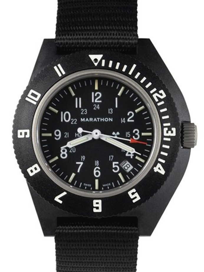 Marathon Swiss Made Quartz Military Navigator Pilot Watch with Tritium Illumination #WW194013-NGM