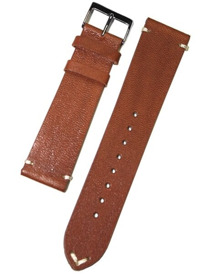 Horween Vintage Style Honey Brown Calfskin Leather with Matching Lining and Hand-Stitching #INS-HOR03