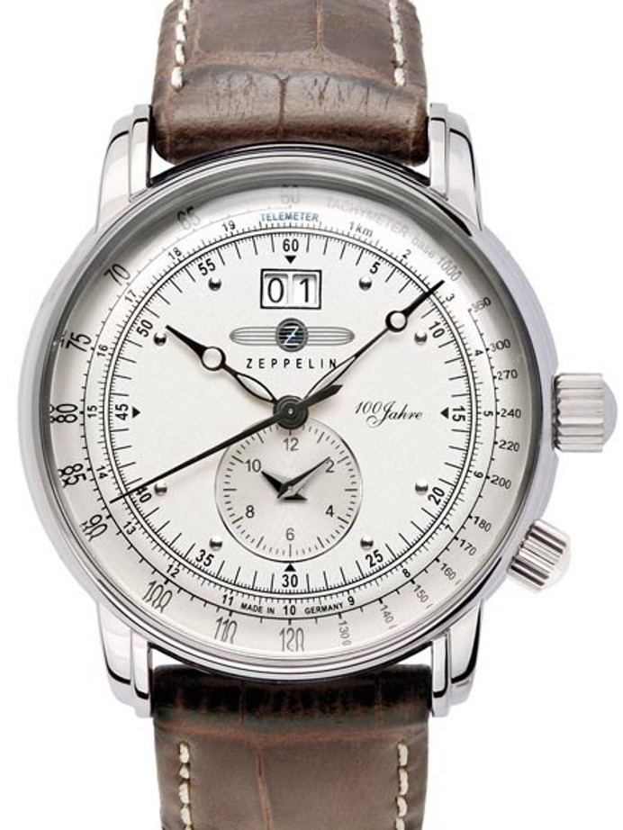 Graf Zeppelin German Made Dual Time Big Date 100 Years of Zeppelin Watch #7640-1