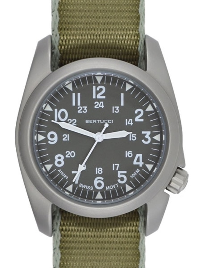 Bertucci A-2S Vintage with Swiss Movement, Grey Dial, 40mm Stainless Steel Case #11504