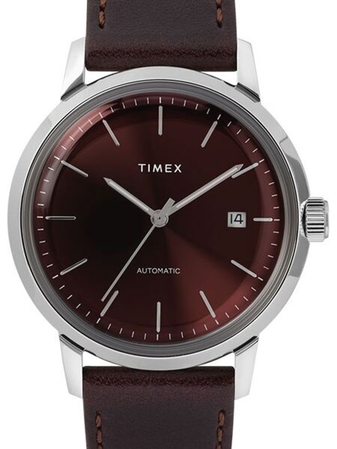 Timex 40mm Marlin 21-Jewel Automatic Watch with Burgundy Dial #TW2T23200ZV