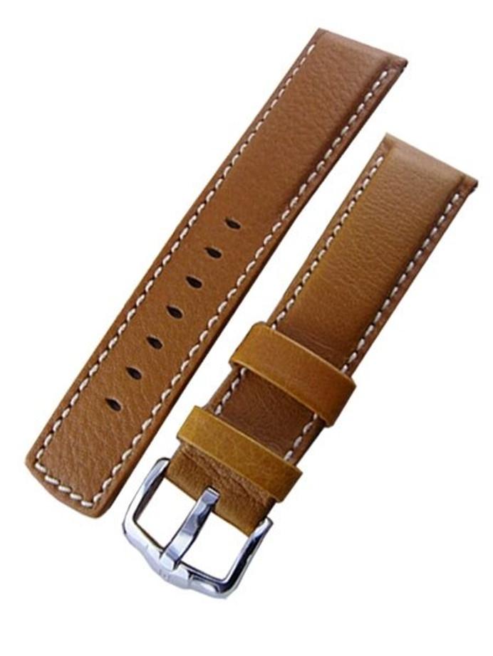 Hirsch Mariner Water Resistant Honey Brown Leather Watch Strap #145021-70