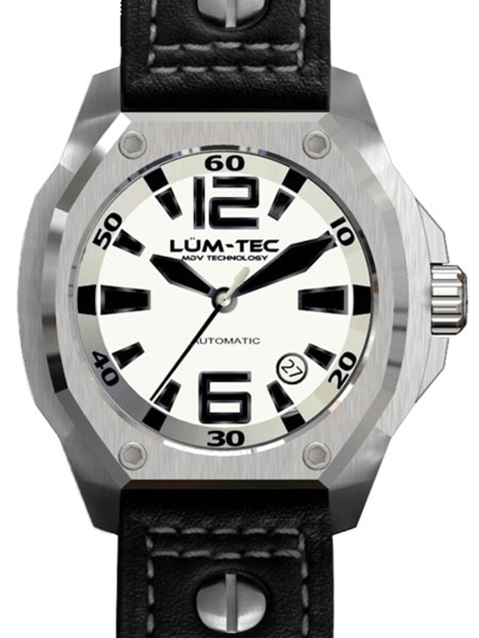 Lum-Tec 44mm V5 High-Beat Automatic Watch with Luminous Dial, AR Sapphire Crystal #V5