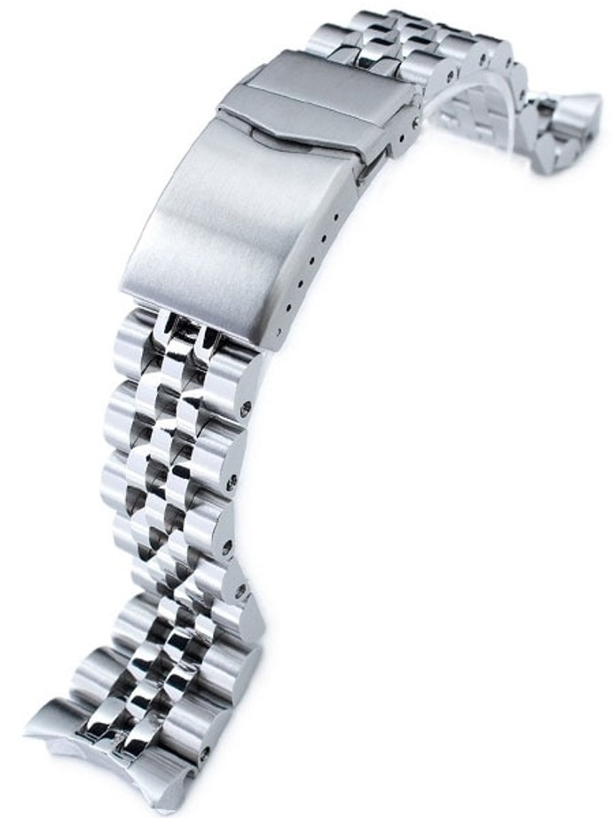 """Strapcode 22mm ANGUS-J """"Louis"""" 316L Stainless Steel Watch Bracelet for Seiko SKX007, V-Clasp #SS221820B059"""