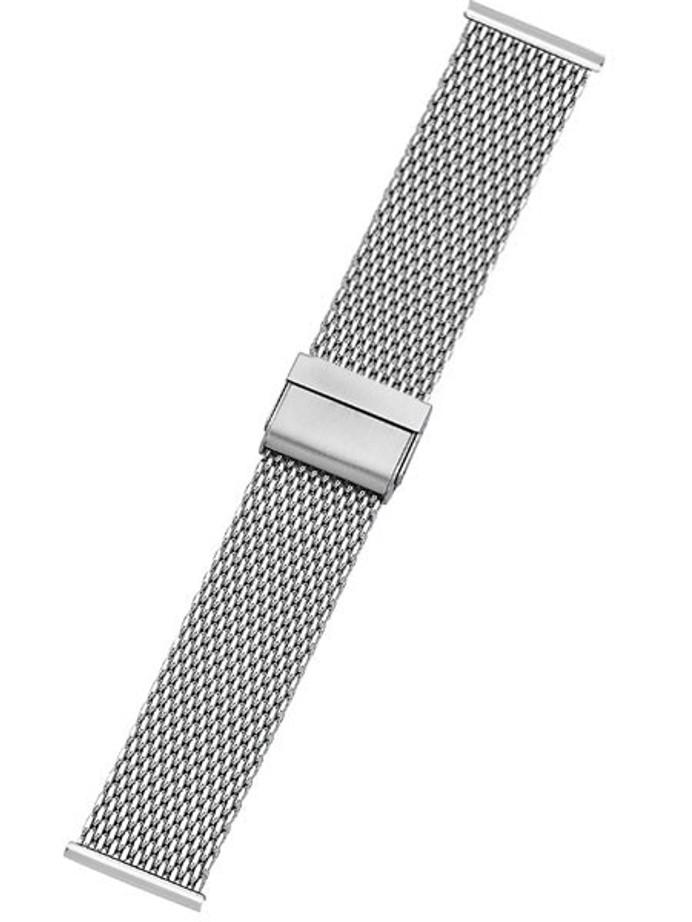 Vollmer Polished Mesh Bracelet with Easy Adjust Push Buckle #13082H4 (22mm)