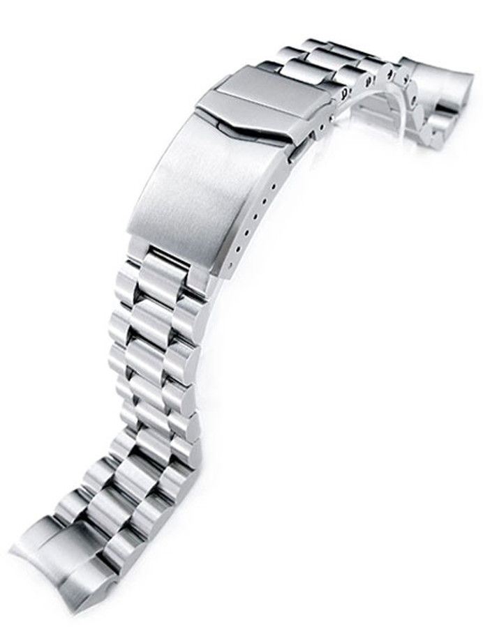 Strapcode 22mm Endmill 316L Stainless Steel Watch Bracelet for Orient Mako II & Ray II Diver Clasp #SS221803B060