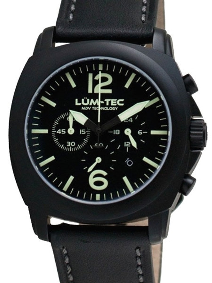 Lum-Tec 40mm M72-S Chronograph Watch with Anti-Relective Sapphire Crystal #M72-S