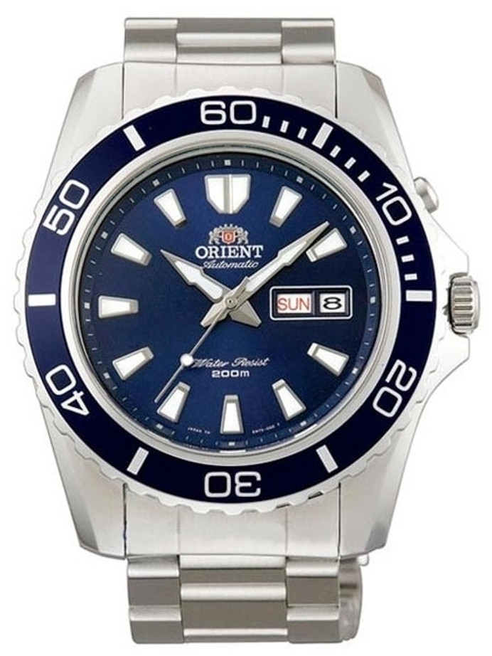 Orient Blue XL Automatic Dive Watch on a Bracelet #CEM75002D