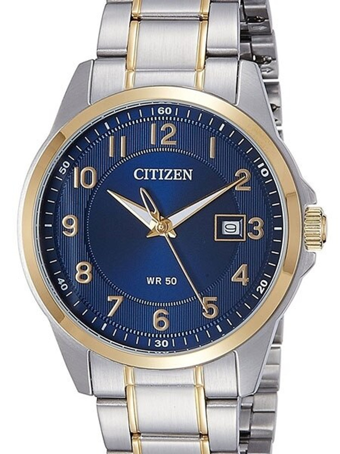 Citizen Elegant Blue Dial, Quartz Dress Watch with Matching Bracelet #BI5044-57L
