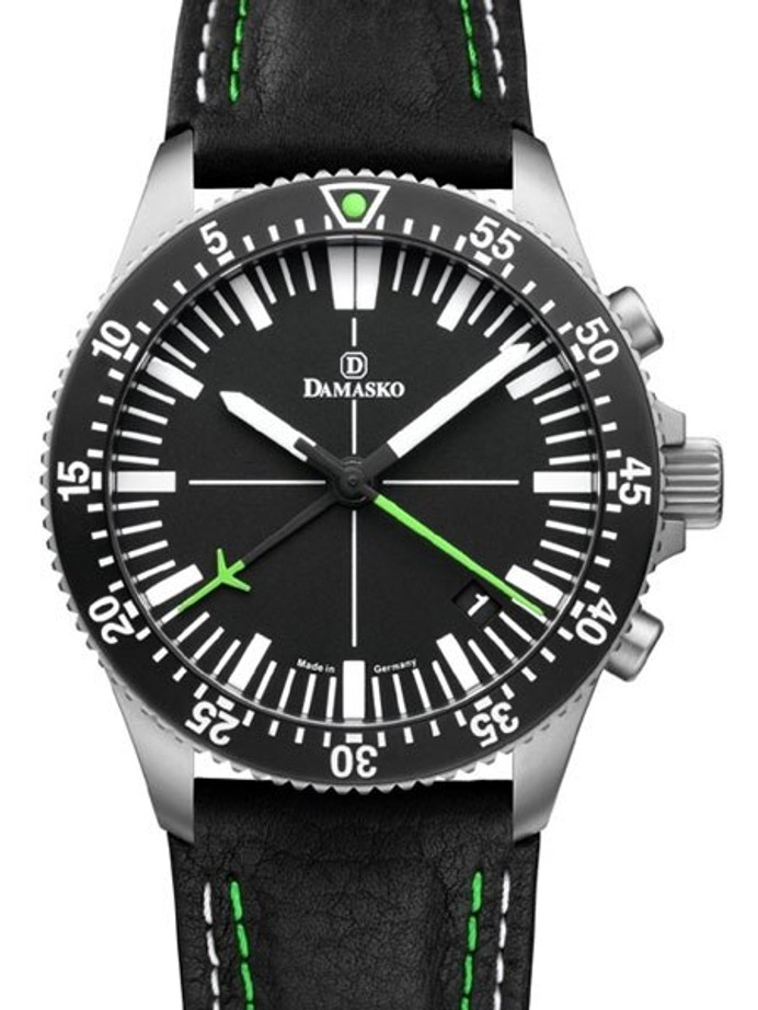 Damasko 42mm Chronograph, Green, with 60-Minute Stopwatch Function #DC82