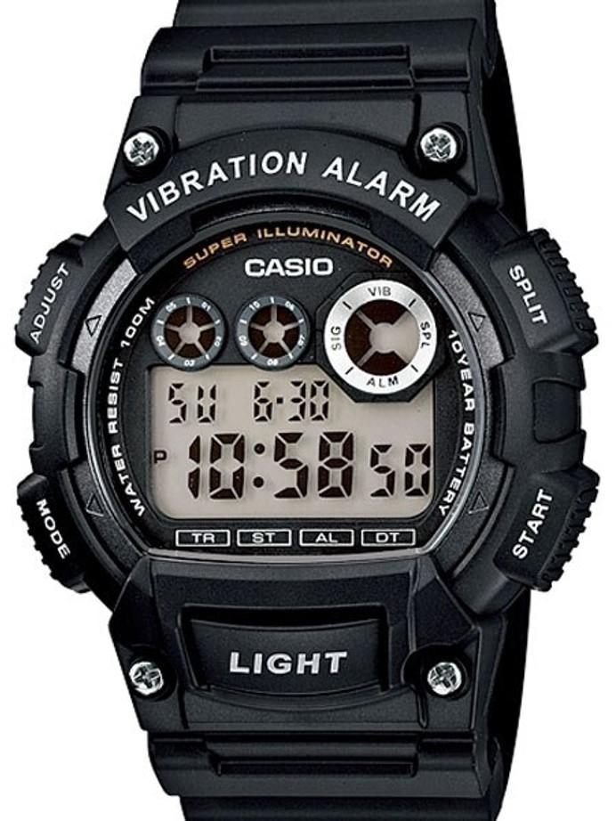 Casio Super Illuminator Dual-Time Chronograph with Vibration Alarm #W-735H-1AV