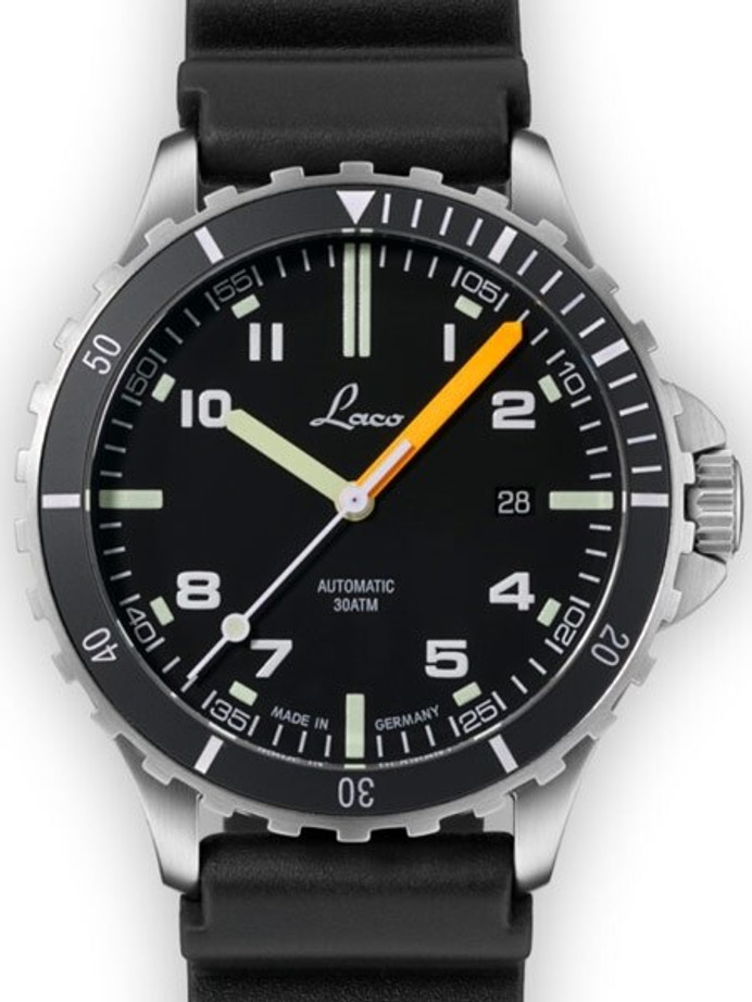 Laco Squad Himalaya 300 Meter Dive Watch with a Double-Domed AR Sapphire Crystal #862106