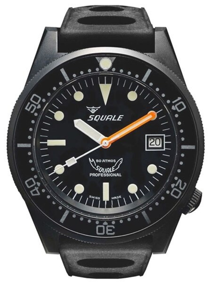 Squale 500 meter Professional Swiss Automatic Dive watch with Sapphire Crystal #1521-026PVD