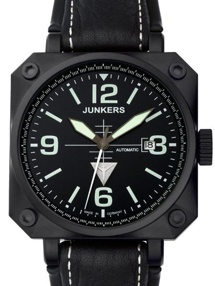 Junkers Horizon Miyota Automatic Airplane Cockpit-Style Watch #6752-2