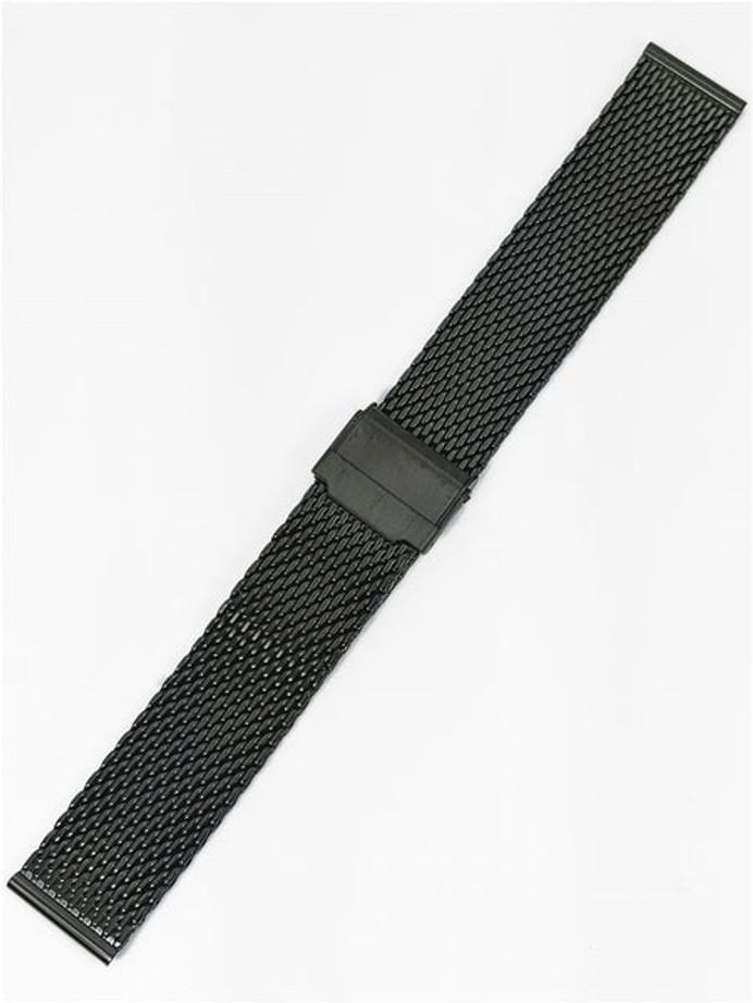 Vollmer Brushed Black PVD Mesh Bracelet with Easy Adjust Buckle #13080H0 (20mm)