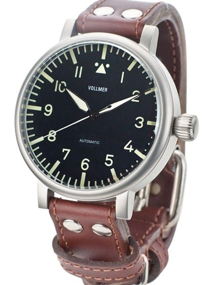 Vollmer W585A Kampfgruppen WWII-Style 55mm Limited Edition Aviator Type A Dial Watch