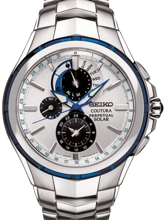 Seiko Coutura Solar Powered Perpetual Calendar and Chronograph #SSC787