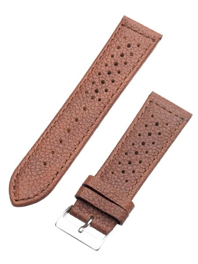 Toscana Racing-Style Brown Calf Leather Watch Strap SURB-H-78080