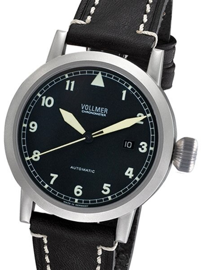 Vollmer V1 Viper 44mm Swiss COSC Certified Chronometer on a Hirsch Liberty Strap