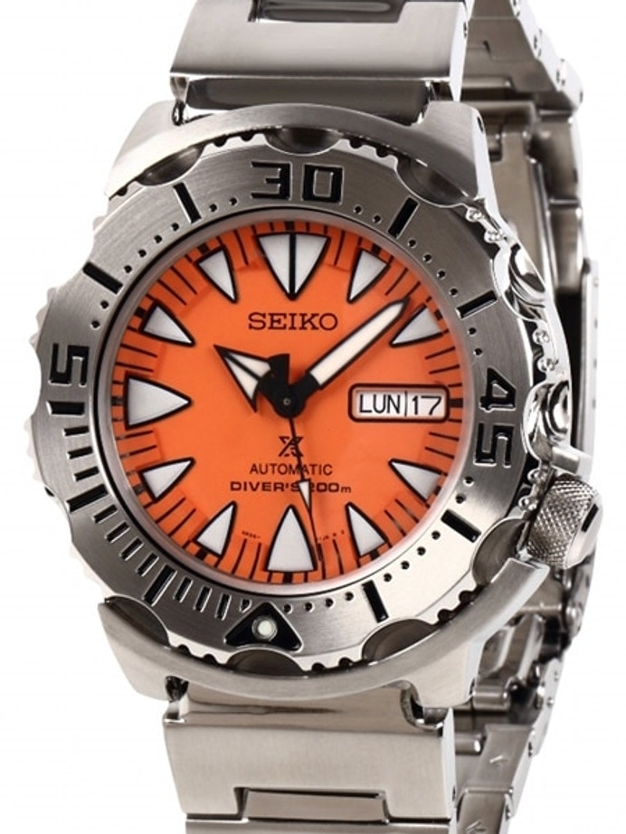 Seiko 2nd Generation Orange Monster with new 24-Jewel Automatic Movement #SRP309K1