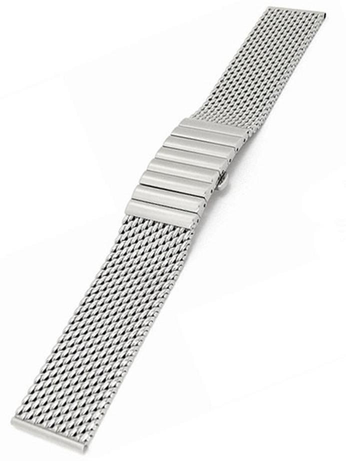 STAIB Polished Mesh Bracelet #STEEL-2792-20043PBS-P (Straight End, 22mm)