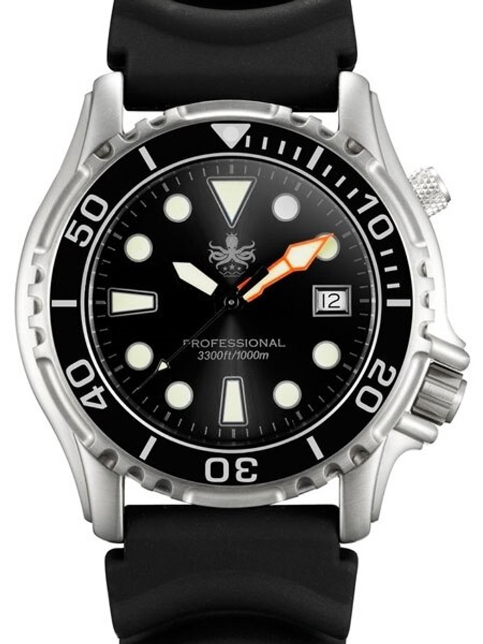 PHOIBOS 1000-Meter Ocean Master Quartz Dive Watch with Sapphire Crystal #PX005C