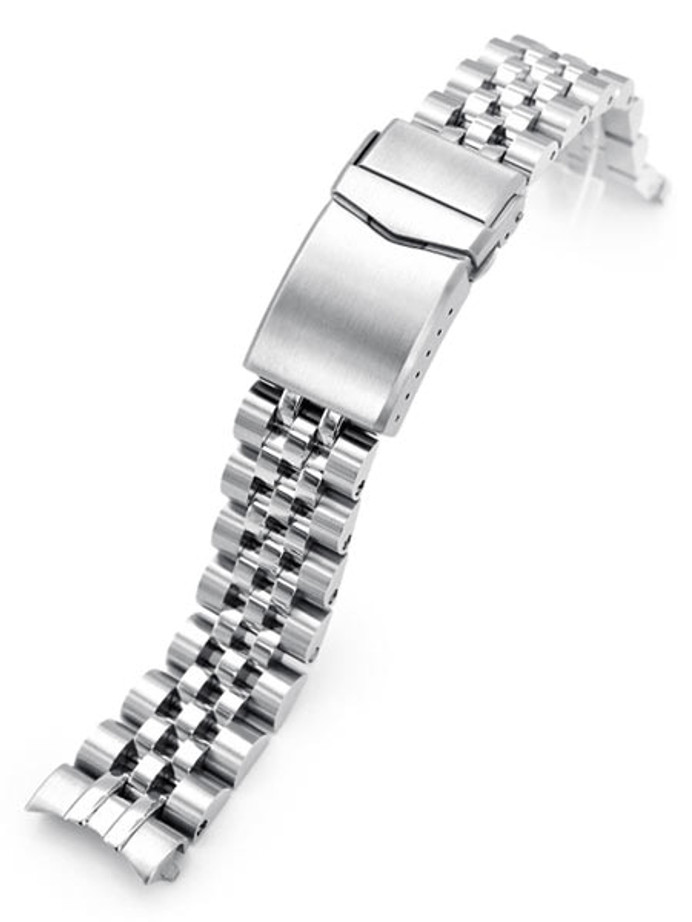 """Strapcode 20mm ANGUS-J """"Louis"""" 316L Stainless Steel Watch Bracelet for Seiko Cocktail Time, V-Clasp #SS201820B071"""