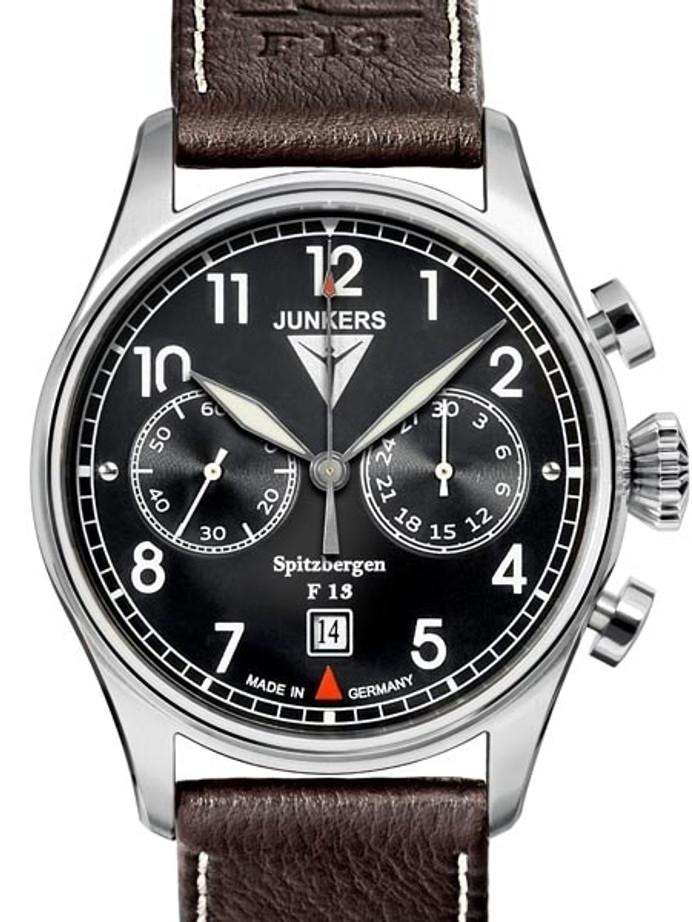 Junkers Spitzbergen F13 Mechanical Chronograph Watch, Sapphire Crystal #6110-2
