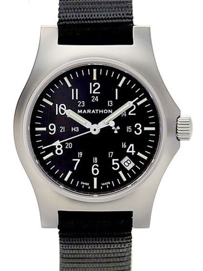 Marathon High Torque Quartz Military General Purpose SS Watch with Tritium Illumination #WW194015SS-NGM