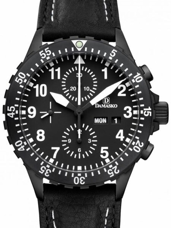 Damasko Swiss Valjoux 7750 Chronograph with 60 Minute Dive Bezel #DC66BK