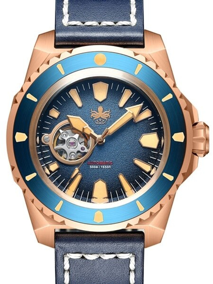 PHOIBOS Leviathan 500-Meter Automatic Dive Watch with Bronze Case, DD AR Sapphire Crystal #PY027B