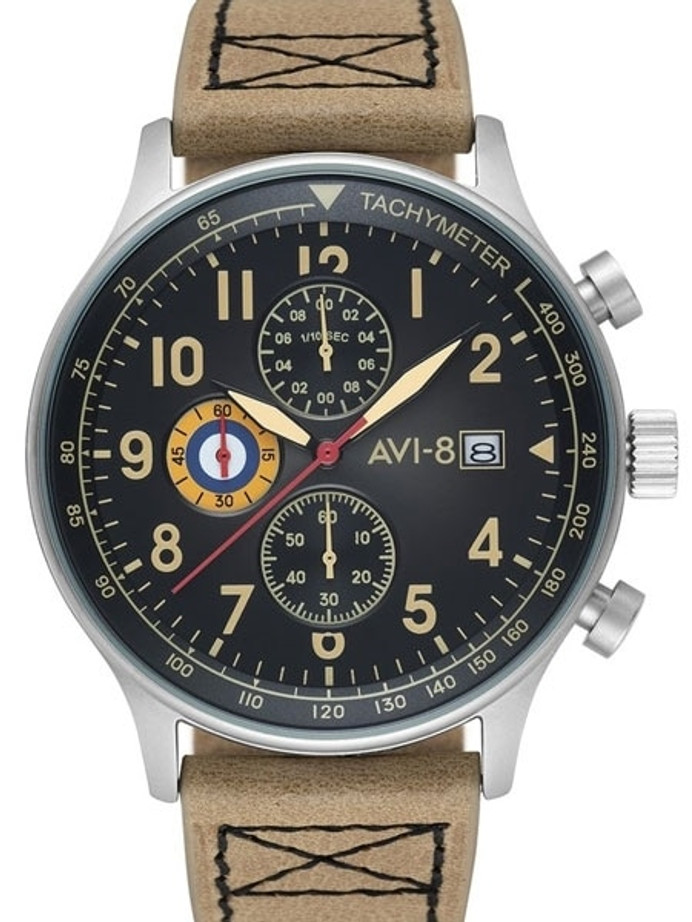 AVI-8 Hawker Hurricane Aviator Chronograph Watch #AV-4011-0J