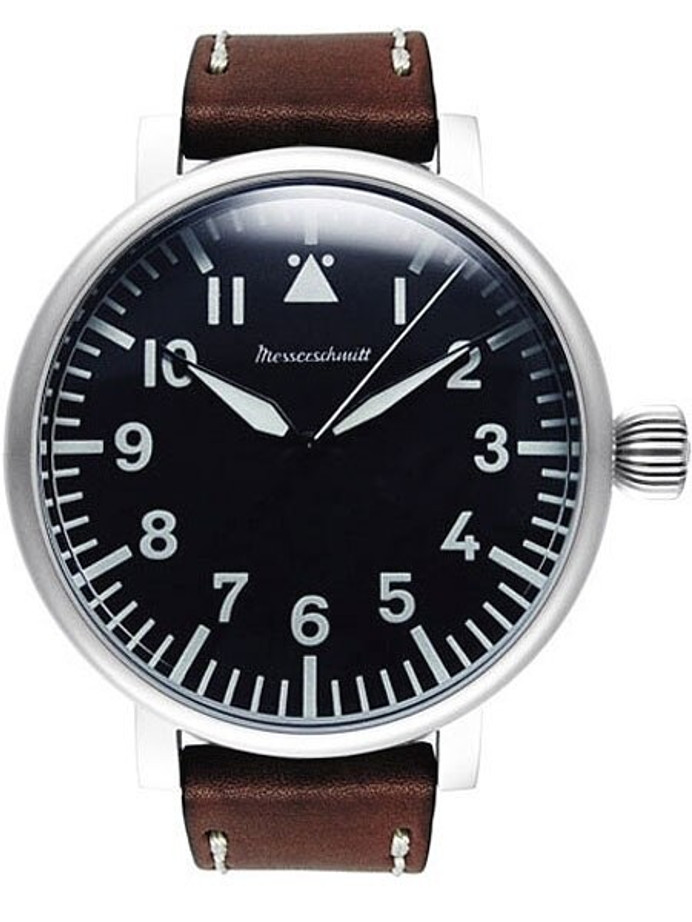Messerschmitt Jumbo Fliegeruhr Watch with Aviator Leather Strap #ME-55DB