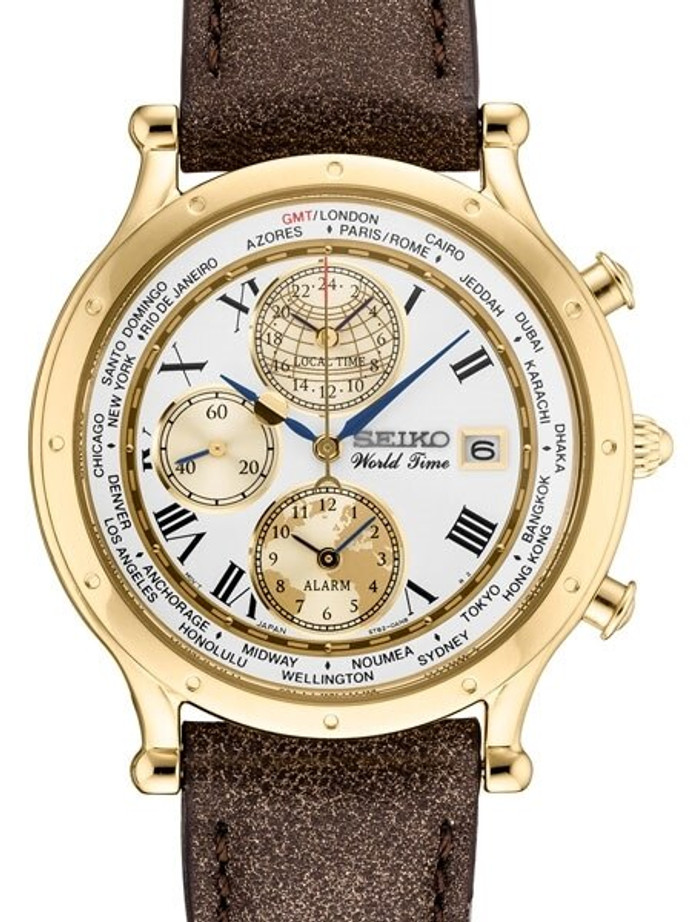 Seiko Age of Discovery, Limited Edition World Time Alarm Watch #SPL060