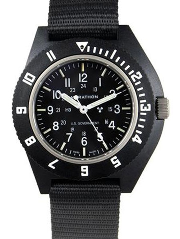 Marathon Swiss Made Quartz Military Navigator Pilot Watch with Tritium Illumination #WW194001