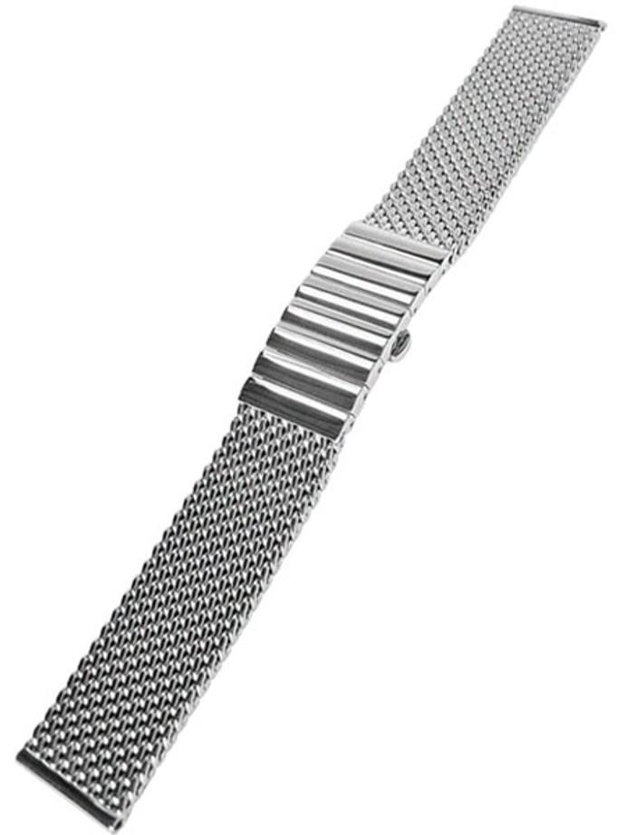 STAIB Satin Finish Mesh Bracelet #STEEL-2792-1340PBL-S (Straight End, 22mm)