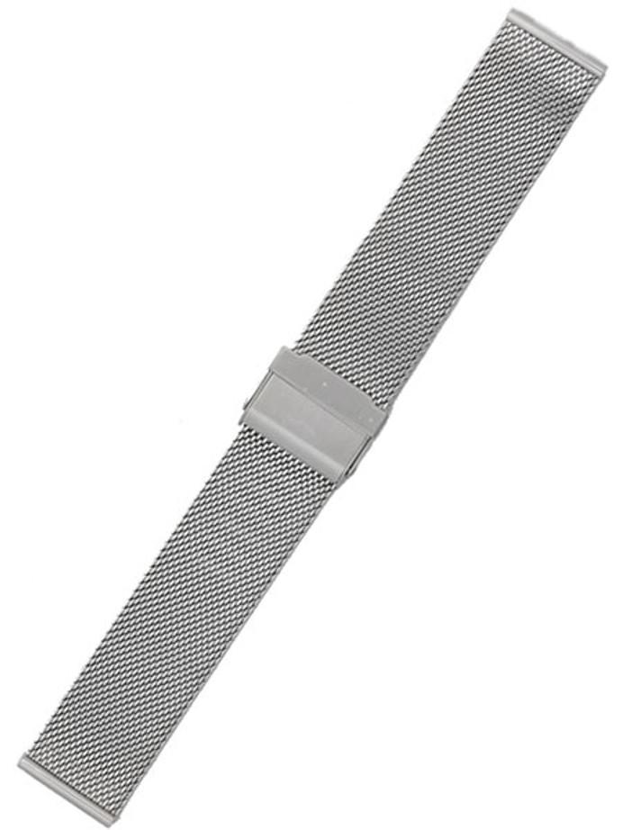 STAIB Polished Finish Milanaise Mesh Bracelet #ST-ST-2905-20806SBL (Straight End, 18mm)