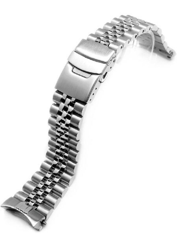 """Scratch and Dent - Strapcode 22mm Super-J """"Louis"""" watch band for SEIKO Diver SKX007/009/011 Curved End #SS221803B020"""