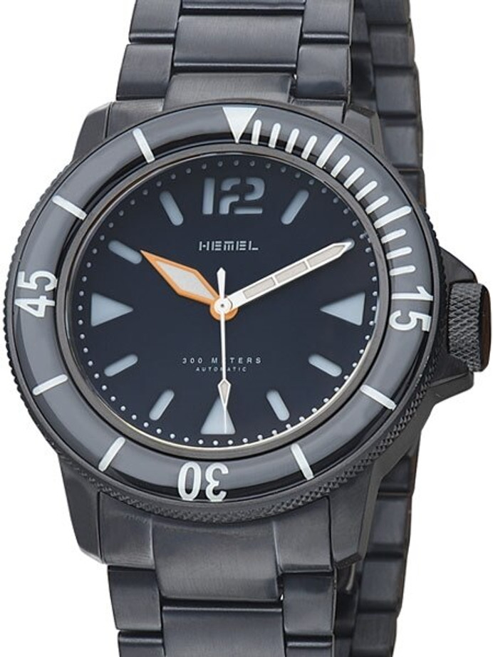 HEMEL 300-Meter Automatic Dive Watch with Luminous Bezel and AR Sapphire Crystal #HDNO1