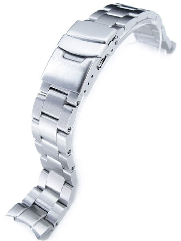 """Strapcode 20mm Super-O """"Boyer"""" watch band for SEIKO SKX013 Curved End #SS201803B049"""